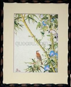 Chim sẻ - hoa rau muống - AN-009