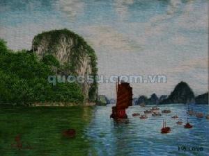 Tranh thêu Hạ Long VN-026