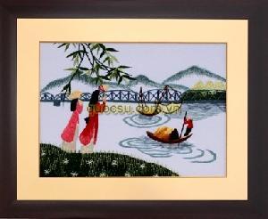 Áo dài sông Hương - R-022b